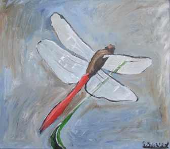 Graeme Buckley Red Tail $300 40 x 51 cm Acrylic on Canvas