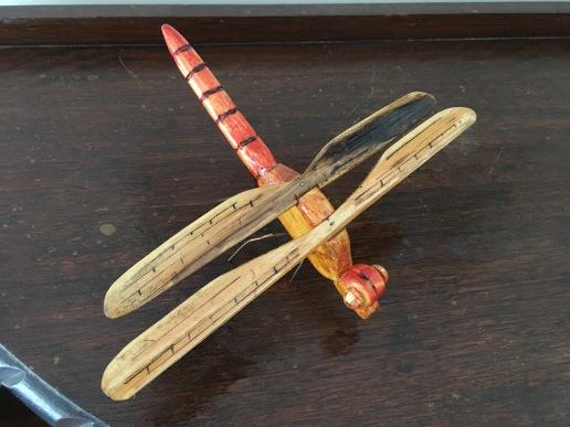18 Graeme Buckley Red Dragon fly $300 9cm x 20 x 27