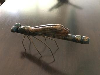 22 Graeme Buckley Blue Dragon fly $300 9cm x 16 x 4 Wood and Copper