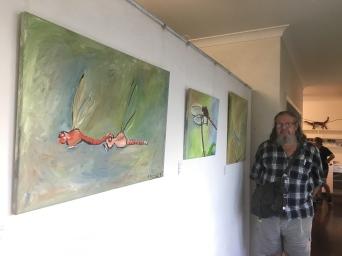 12 Graeme Buckley Mating Damsels Red $300 50 x 76 cm Acrylic on canvas