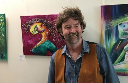 Steve Maguire in front of Magenta Moondance $300